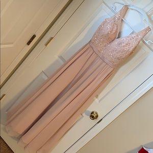 Morilee Madeline Gardner Blush Brodesmaids dress